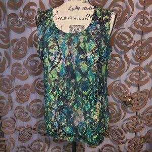 Women's Snake Print Sleeveless Blouse